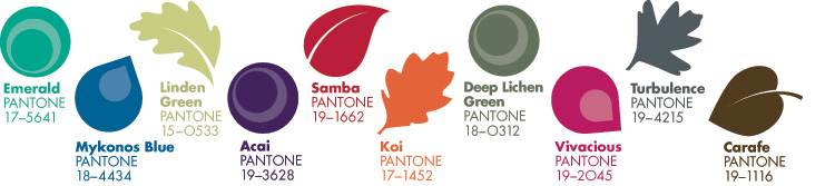 Pantone top 10 Autumn/Winter colours 2013