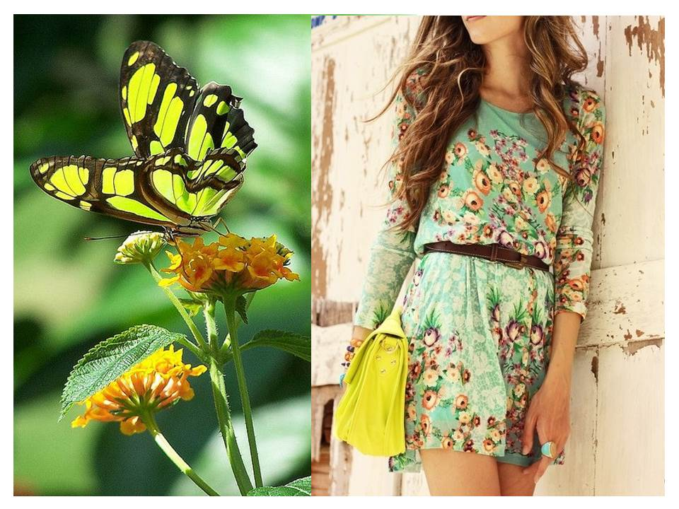 Wear soft jade and lemon-lime green accents for Spring 2013