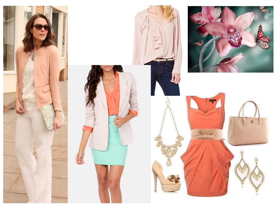 Spring 2013 colours to wear - linen blush nectarine