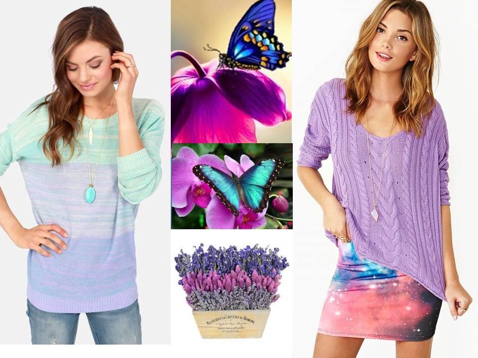 Wear grown up pastels in violet and dusk blue for Spring / Summer 2013