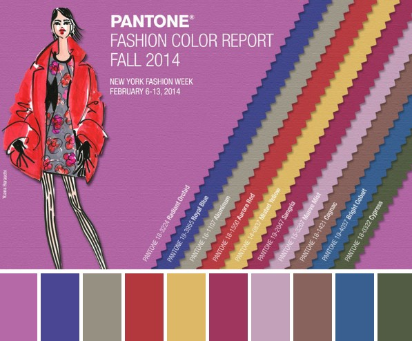 Pantone colours Autumn 2014