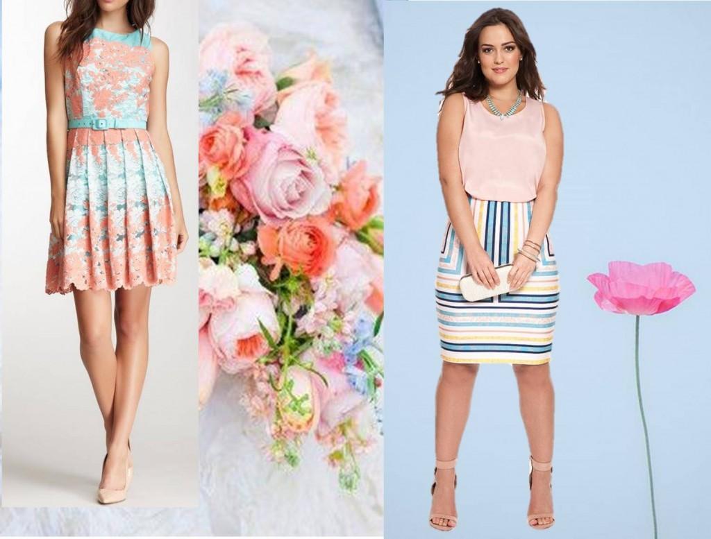 Peachy blue Spring fashion colours